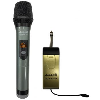 Audibax Missouri Free Hand UHF Micrófono de Mano UHF con Receptor a Pilas o Powerbank ( REACONDICIONADO )