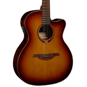 LAG T118ACE-BRS Guitarra Electro Acústica Tipo Auditorium con Cutaway Serie Tramontane