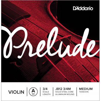 D´addario J812 Cuerda Prelude La (A) para violín 3/4, tensión media