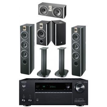 Onkyo TX-NR 686 BK+Focal Chorus 716 Bk+Chorus 706+Chorus CC700+Soportes Regalo