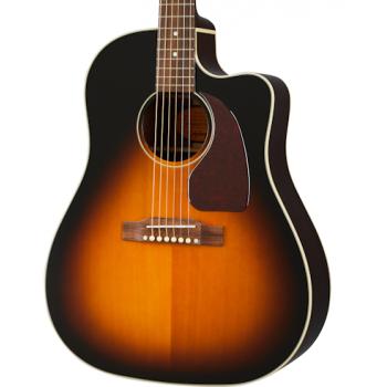 Epiphone J-45 EC Aged Vintage Sunburst Gloss Guitarra Electroacústica