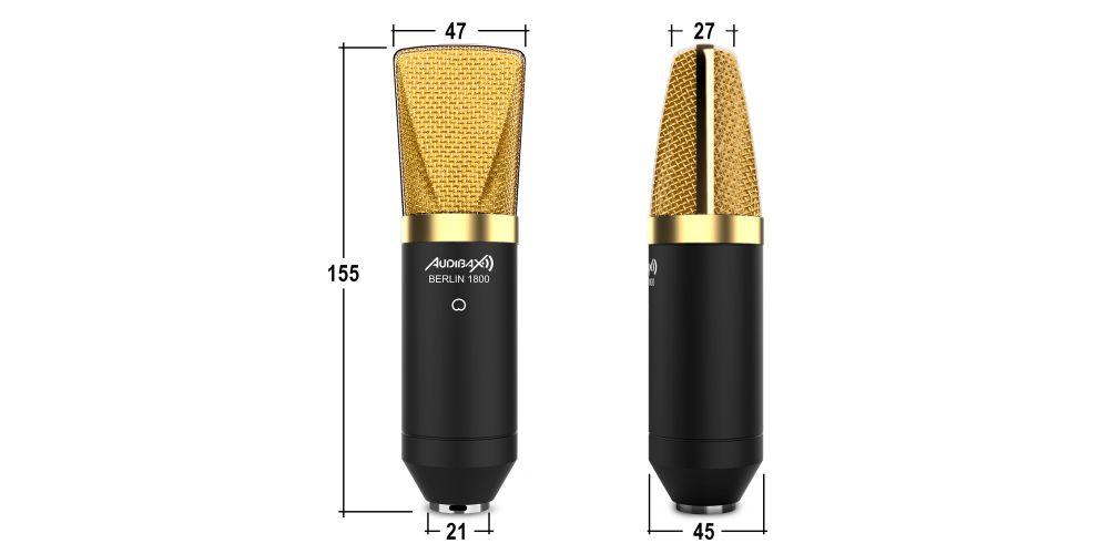 audibax berlin 1800 pro pack gold medidas