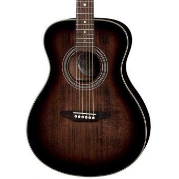 Luna Guitars Art Vintage Folk Solid Top LH Distressed Vintage Brownburst. Guitarra Acústica para Zurdos