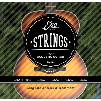 Eko Bronze Medium 12-53 Cuerdas Para Guitarra Acustica