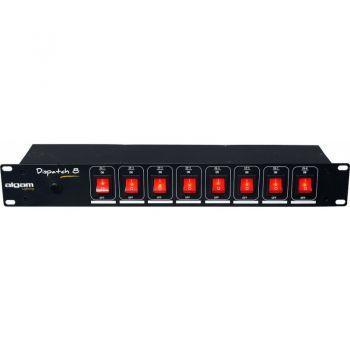 Algam Lighting DISPATCH-8 Regleta con Interruptor Dispatch de 8 Canales Enracable