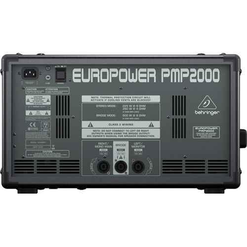 BEHRINGER PMP2000 Mezclador Amplificado Behringer PMP-2000 Und.