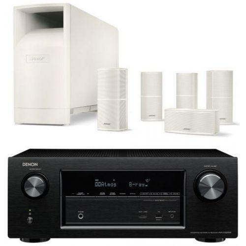 DENON AVR-X3200 + Bose AM-10-V-White