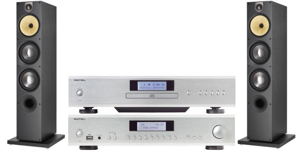 rotel a14 silver amplificador hifi.cd14 bw683 black