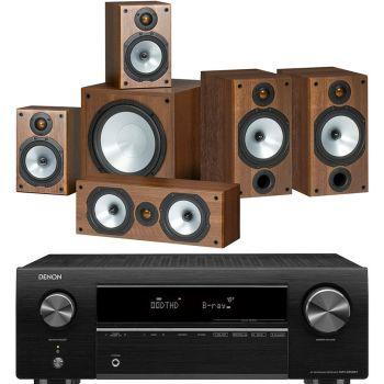 DENON AVR-X250BT Receptor Av+Monitor Audio Power 2 Walnut Conjunto Home Cinema