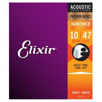 Elixir Nanoweb 16002 Extra Light Phosphor 10-47