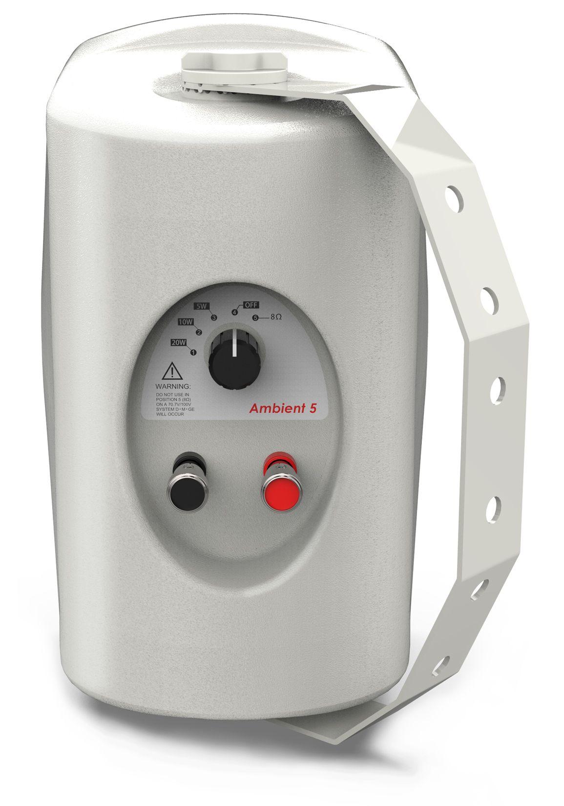 8 Ohm Audibax Ambient 5 White Pareja de Altavoces Pasivos Pared 5 Pulgadas 100v