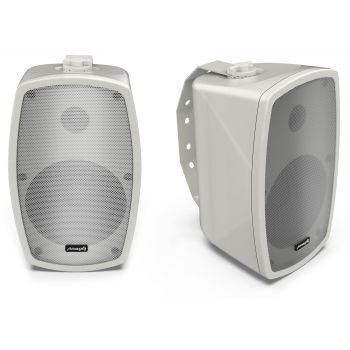 Audibax Ambient 5 White Pareja de Altavoces Pasivos Pared 5 Pulgadas 100v / 8 ohm