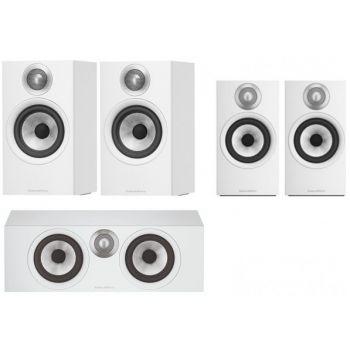 BW 606+BW607+BW HTM6 White Conjunto altavoces home cinema