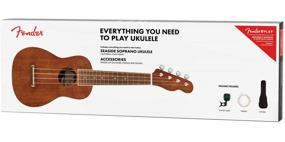 fender seaside soprano ukulele pack comprar