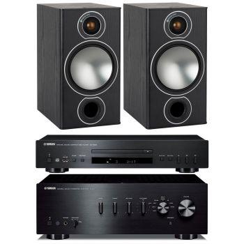 Yamaha AS301 Black+CDS300+Monitor Audio Bronze 2 Black Conjunto Audio