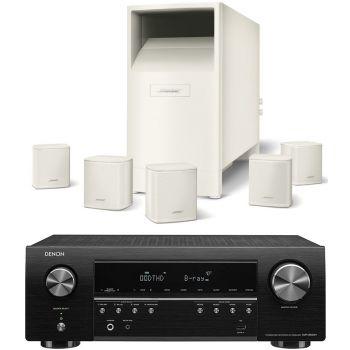 DENON Equipo AV AVR-S650+Bose AM-6V White Altavoces Home Cinema