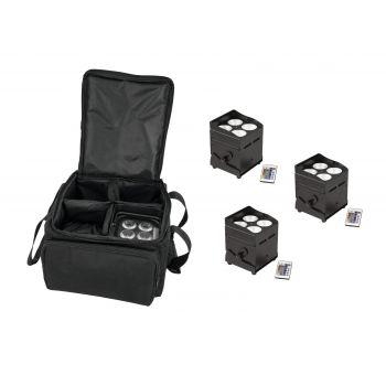 Eurolite Set 4 x AKKU UP-4 QCL Spot QuickDMX + SB-4 Soft-Bag L