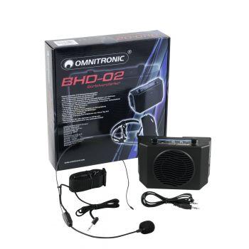 Omnitronic BHD-02 Amplificador con Micrófono Portátil