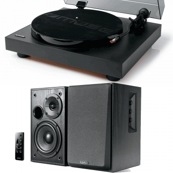 Equipo HiFi Muse MT-105B Giradiscos + Edifier R1580MB Altavoces Activos Bluetooth