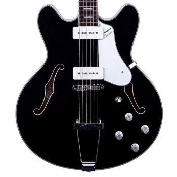 Vox BOBCAT V90 BLACK Guitarra Eléctrica Semi-Hollow Negra
