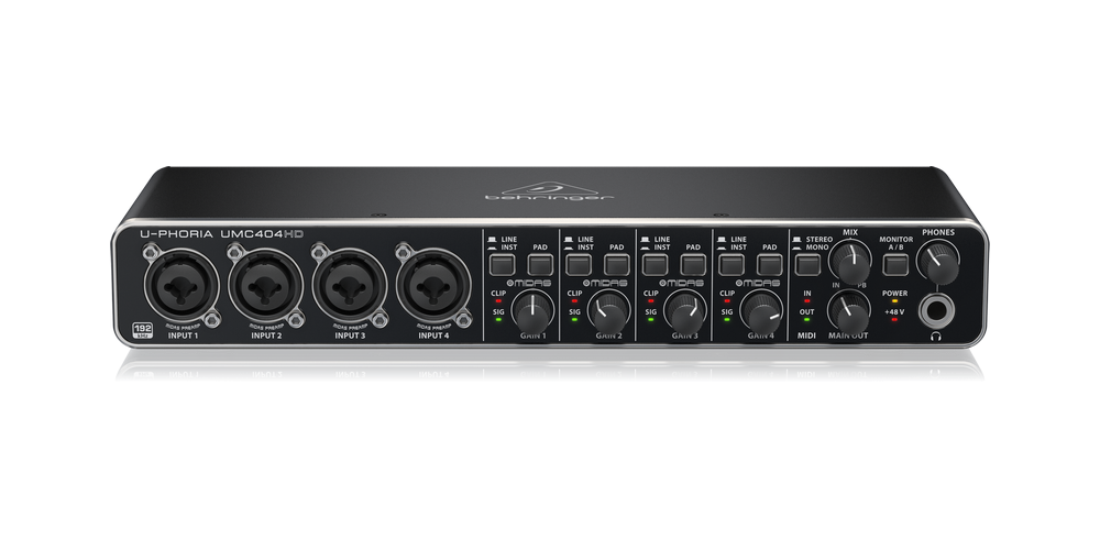UMC404HD behringer interface