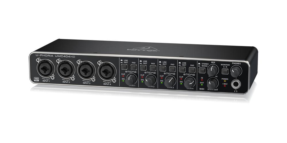 UMC404HD behringer tarjeta sonido front
