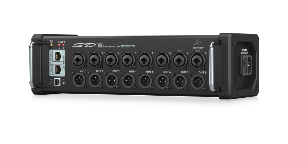 behringer sd8 rear