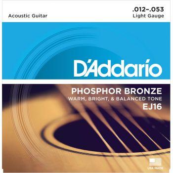 D Addario EJ-16 (012-053) Cuerda Guitarra Acústica