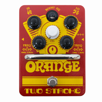 Orange Two Stroke Pedal Boost Eq