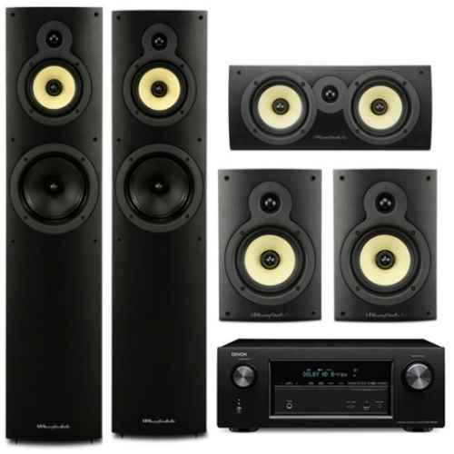 denon avrx1300 wharfedale system 4 conjunto home cinema crystal 4 0 systems
