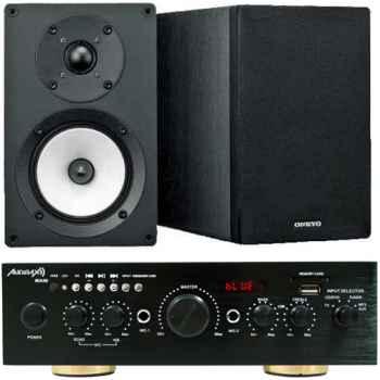 Equipo Karaoke Amplificador Bluetooth Audibax Miami 100+100W + Altavoces Onkyo D055