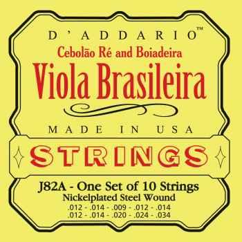 D´addario J82A para Viola Brasileira