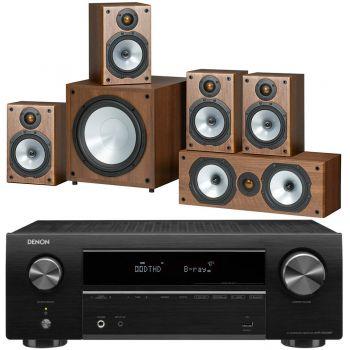 DENON AVR-X550 BK+Monitor Audio Power 1 Cherry  Conjunto Home Cinema