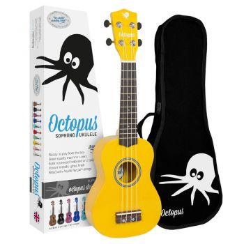 Octopus UK 200 YL Ukelele Soprano Amarillo con Funda