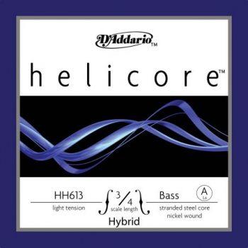D´addario H613 Cuerda Suelta Contrabajo Helicore Hybrid La (A) 3/4 Tensión Suave