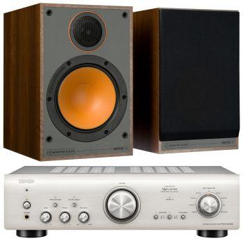 Denon PMA-800AE Silver+Monitor Audio Monitor 100 Walnut conjunto sonido