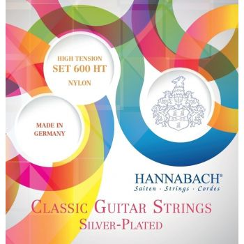 Hannabach 600HT Cuerdas para Guitarra Clásica Tensión Alta Plateado