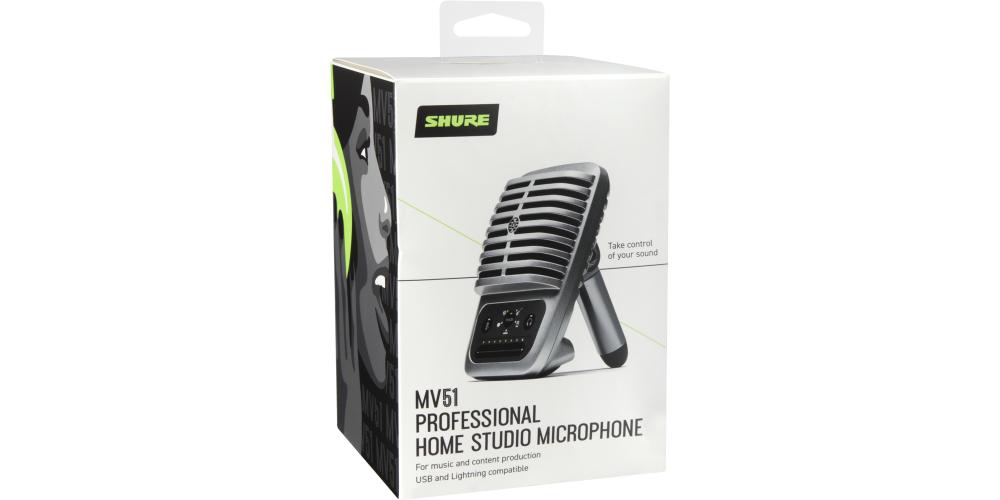 SHURE MV51 DIG Microfono digital condensador diafragma cable lightning