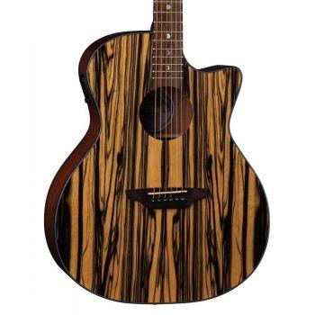 Luna Guitars Gypsy Exotic EB Black-White. Guitarra Electroacústica