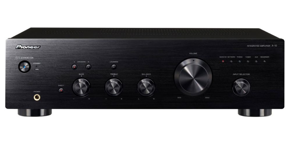 pioneer a 10 amplificador blackamplificador integrado