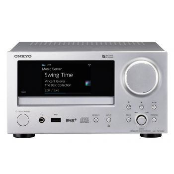 ONKYO CR-N775 Receptor Red CD Silver