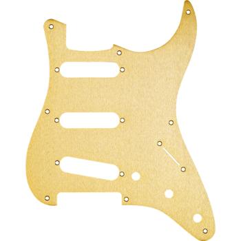 Fender Golpeador Stratocaster S/S/S 8-Hole Mount Aluminio Anodizado Dorado