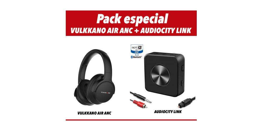 vulkkano AIR ANC Negro auriculares bluetooth emisor bluetooth audiocity