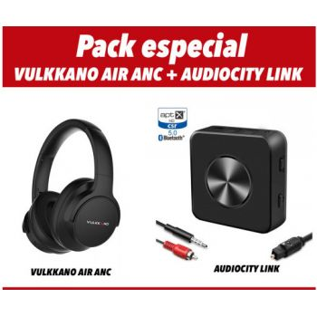 VULKKANO AIR ANC Negro Auriculares Bluetooth+Audio City Link