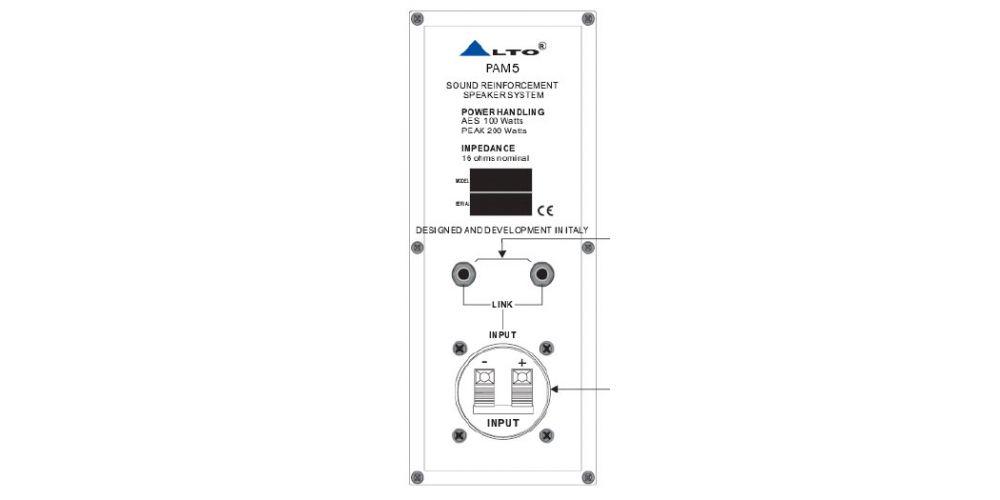 alto pma5t altavoz instalacion 100 16 ohmios