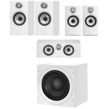 BW 606+BW607+BW HTM6 White+ASW608 White Altavoces Home Cinema 5.1