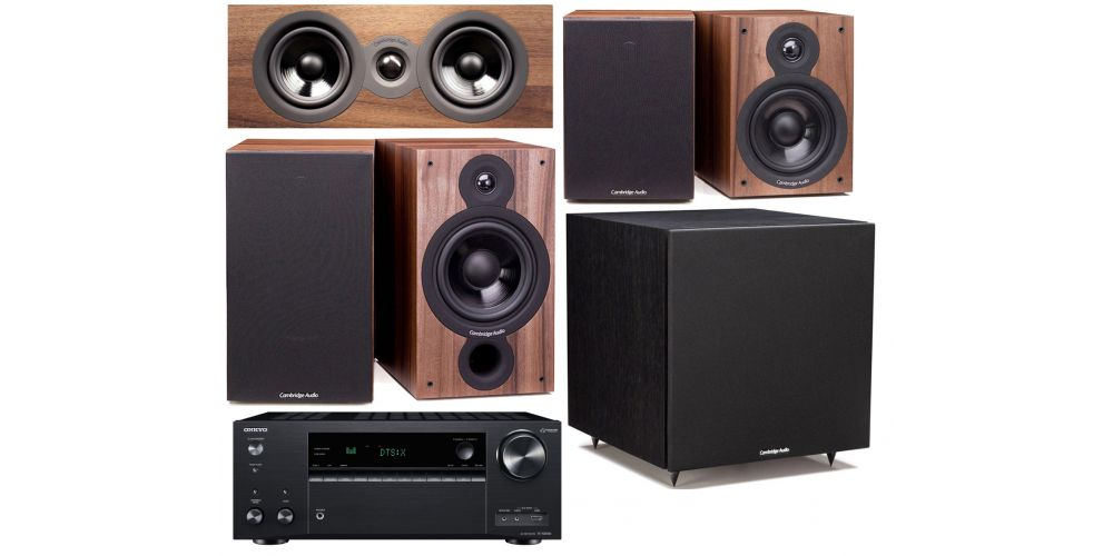 onkyo txnr686 cambridgea sx 60 walnut conjunto home cinema