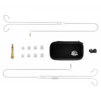 Mee Audio MX3 PRO Clear Auriculares In Ear profesional para escenario Transparentes