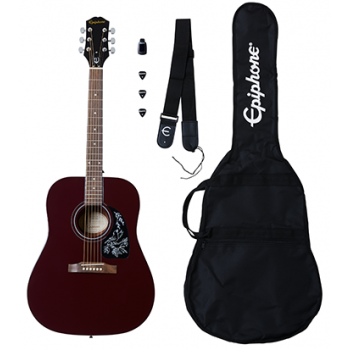 Epiphone Starling Acoustic Guitar Player Pack Wine Red Guitarra Acústica