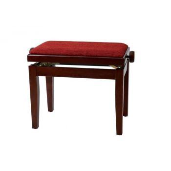 GEWA 130050 Banqueta de Piano Deluxe Caoba Mate Tapizado burdeos